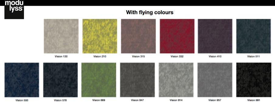 Los 13 colores de la colección Vision de modulyss