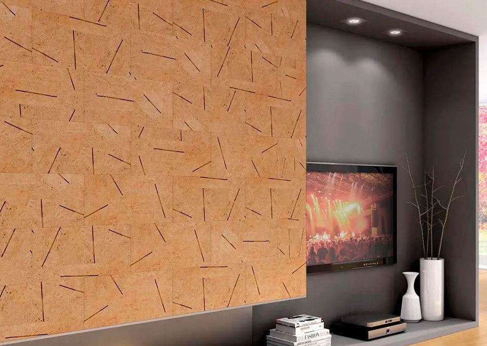 Corcho decorativo para paredes y techos