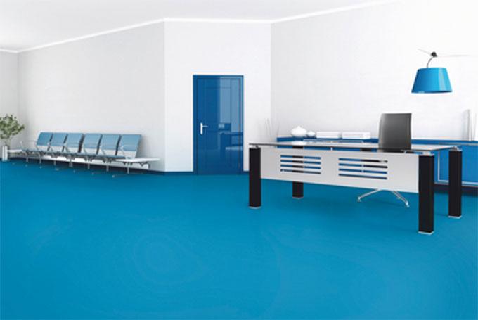 Un pavimento de linóleum moderno